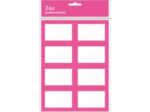 boeketiket 3x8 stuks roze roze 212C boeketiket 3x8 stuks