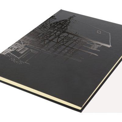 dummyboek Kangaro A4 blanco, katerngenaaid, hard cover, zwart met print, 140grs