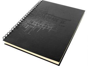 dummyboek Kangaro A4 blanco,Wire-o, hard cover, zwart met print, 140grs creme papier