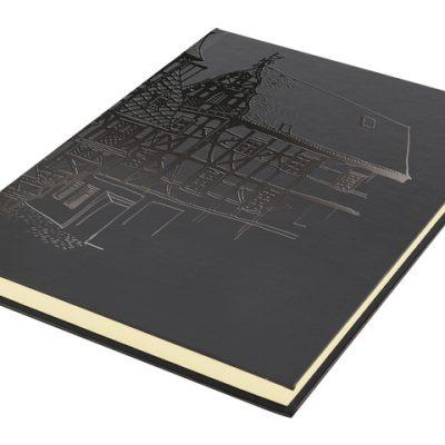 dummyboek Kangaro A5 blanco,katerngenaaid, hard cover, zwart met print, 140grs