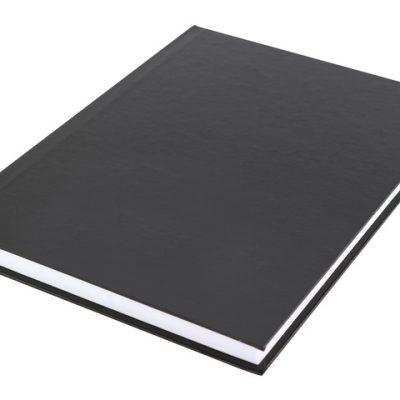 schrift A5 Kangaro hc lijn cover zwart, 80 grams, 80 pagina's gelinieerd met kantlijn
